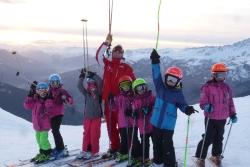 U10 Ski couché de soleil décembre